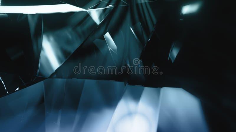 Gros plan diamantaire avec mouvement circulaire et effet de scintillement photo libre de droits