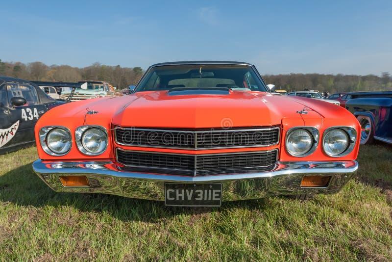 Gros plan Vintage American Chevrolet image libre de droits
