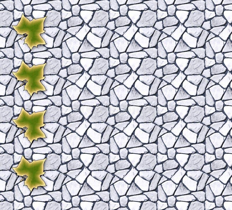 Gros points noirs de feuille illustration de vecteur