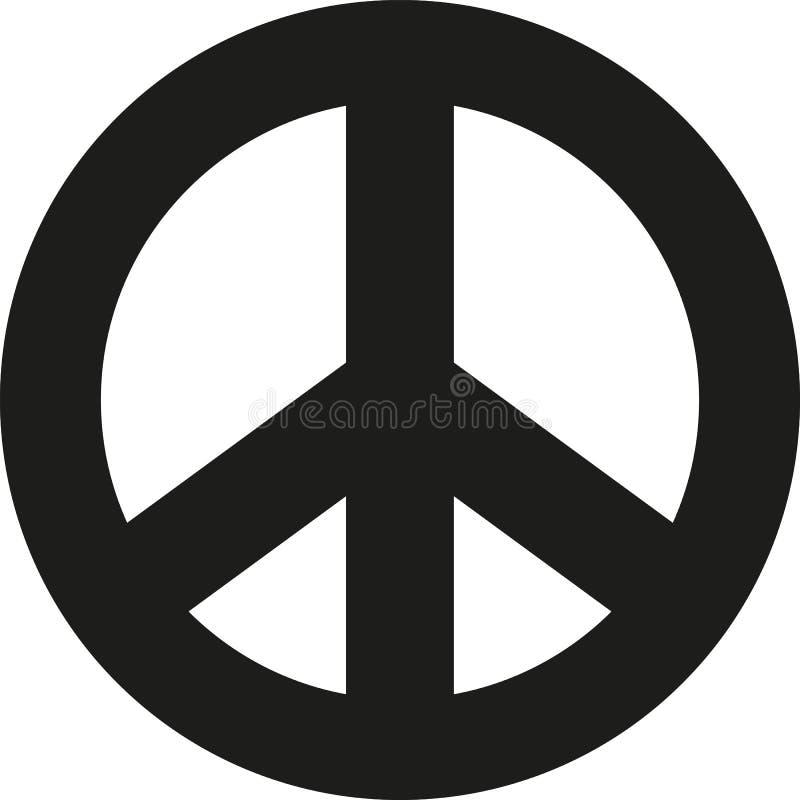 Gros signe de paix illustration stock