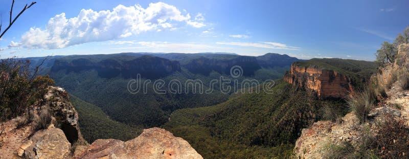 Grose gór Australia Dolinna Błękitna panorama zdjęcie stock