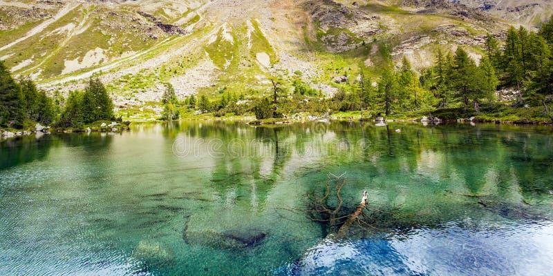 Valtellina IT - Verva Lake. Grosina Valley - Valtellina IT - Verva Lake stock photography