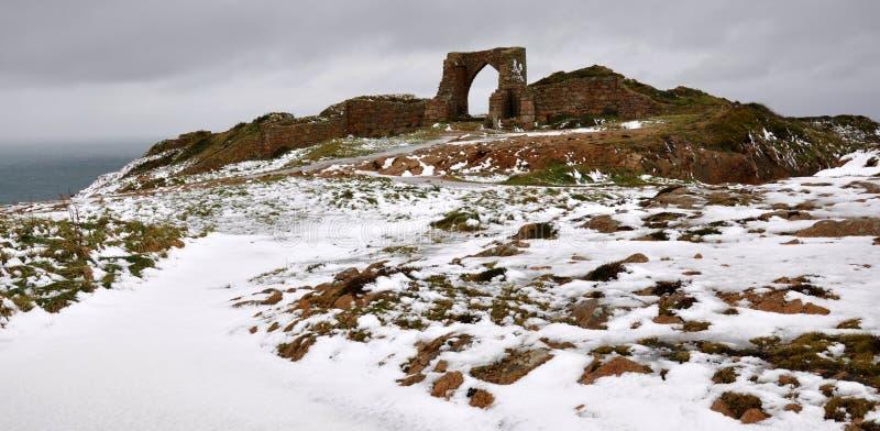 Grosnez Schloss in Jersey lizenzfreie stockbilder