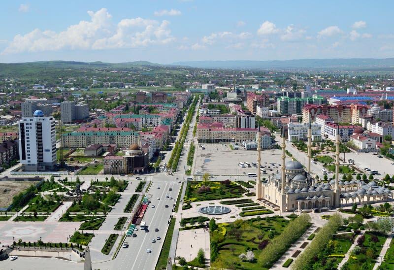 Grosny-Panoramasicht lizenzfreies stockbild
