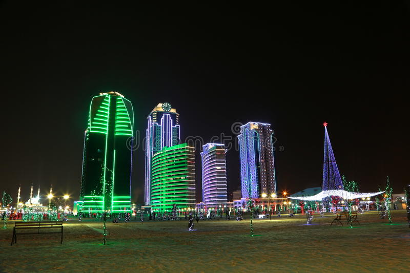 Grosny-Stadt stockfotos