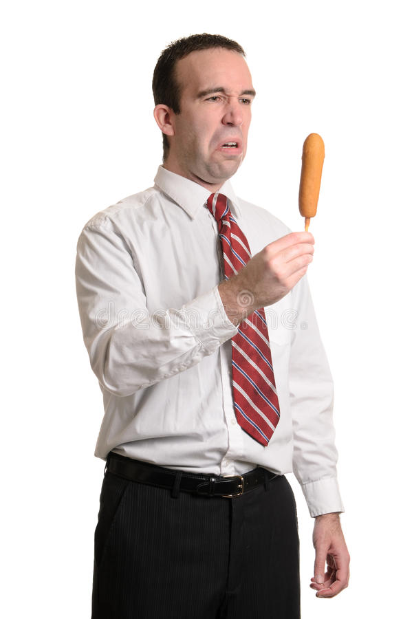Download Gross Corn Dog stock photo. Image of isolated, battered - 18794348