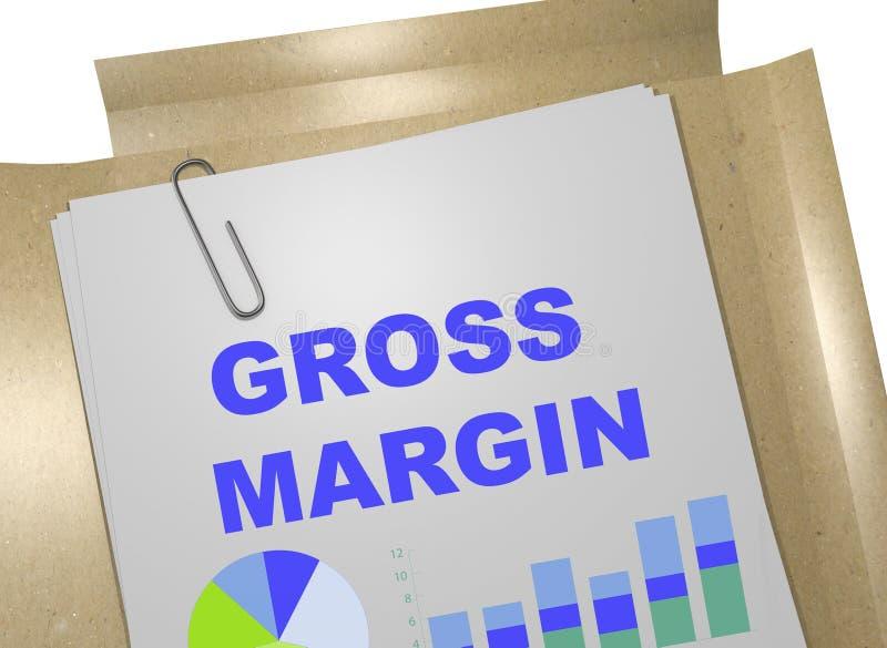Gross Margin - business concept vector illustration