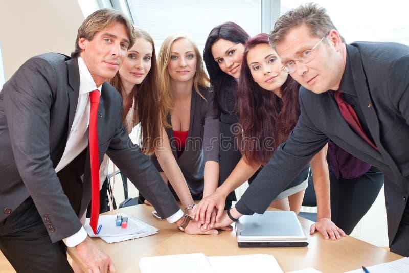 Grossbetriebteam stockbild