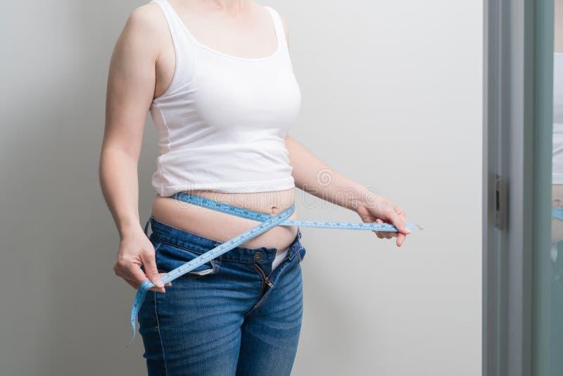 Grosse femme de poids excessif images libres de droits