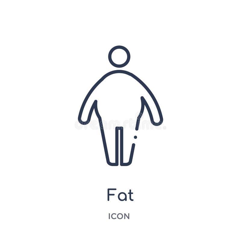 Grosse icône linéaire de collection d'ensemble de santé Ligne mince grosse icône d'isolement sur le fond blanc grosse illustratio illustration de vecteur