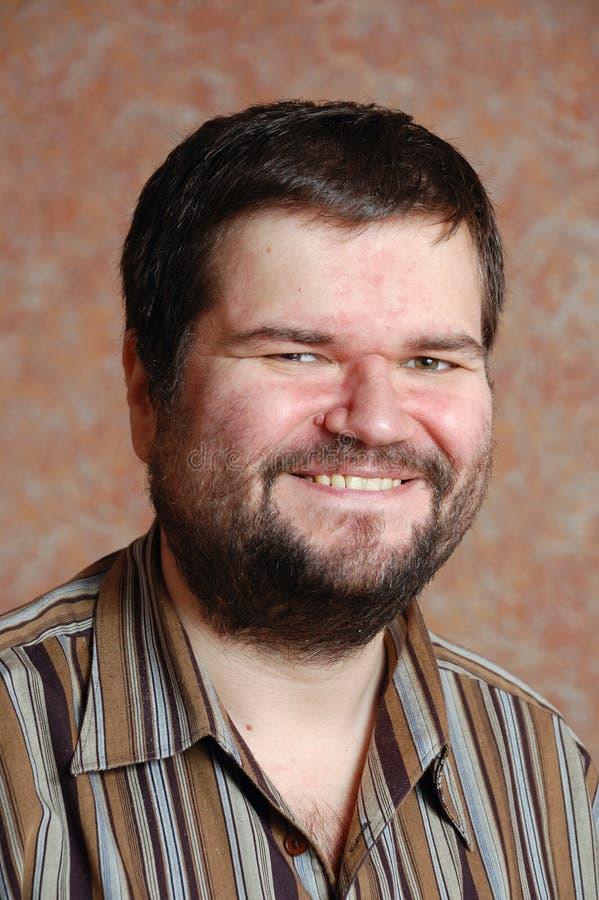 Grosse verticale de sourire d'homme photographie stock