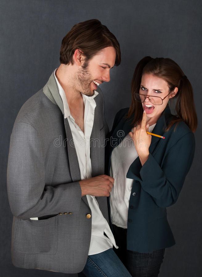Download Grossed-out Girl with Man stock photo. Image of harass - 19513272