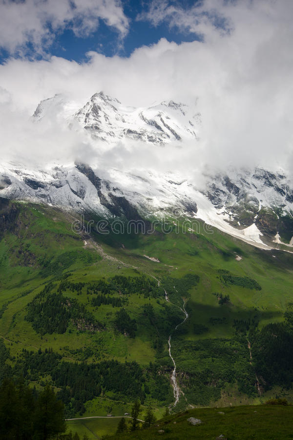 Grossglockner高高山路,奥地利 库存图片