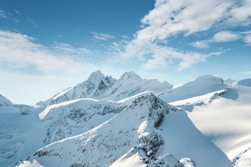 Grossglockner in Österreich, Ansicht von Kitzsteinhorn, Kaprun lizenzfreie stockfotografie
