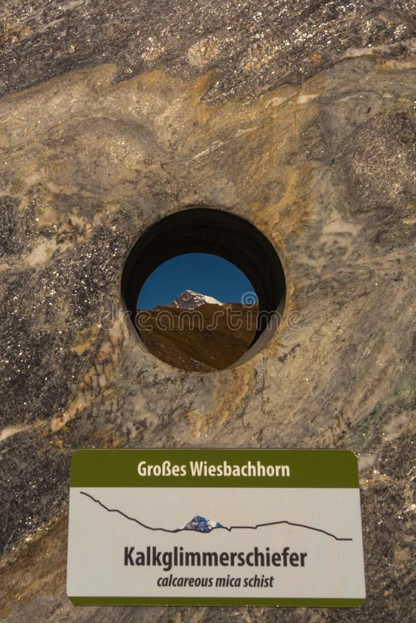Grossglockner High Alpine Road in Austria at autumn. Grossglockner High Alpine Road, Austria, Oct. 2018, Theme Park at Grossglockner High Alpine Road, Hohe royalty free stock images