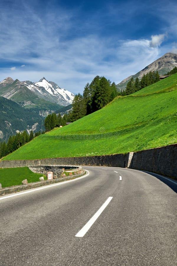 Grossglockner Oostenrijk - Bergweg royalty-vrije stock foto