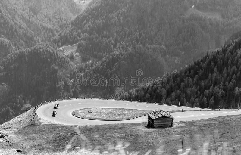Grossglockner RoadGroßglockner alpino alto Hochalpenstraßen imagens de stock
