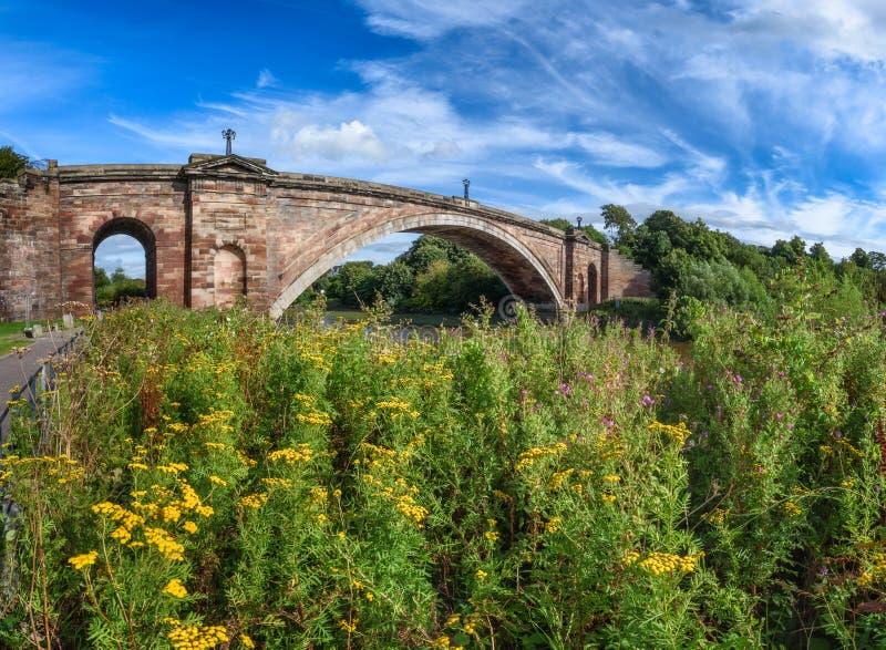 Grosvenor桥梁,彻斯特英国 免版税库存图片