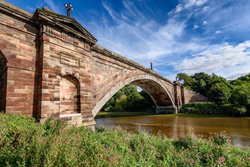 Grosvenor桥梁彻斯特英国英国 库存图片