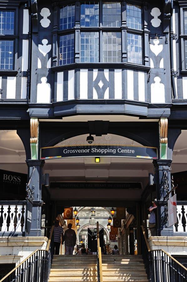 Grosvenor购物中心,彻斯特 图库摄影