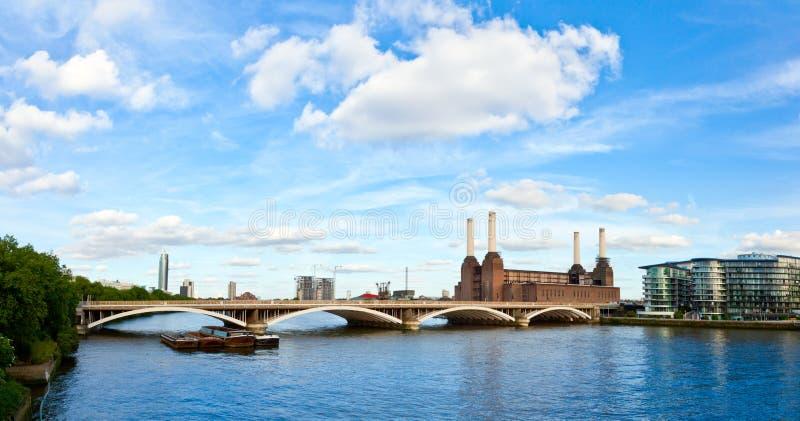 Grosvenor Bridge with Battersea Power Station stock photo
