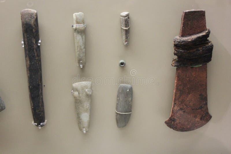 Groszak, Barite i inne kamień rzeczy handlujący Etowah ludźmi, fotografia royalty free