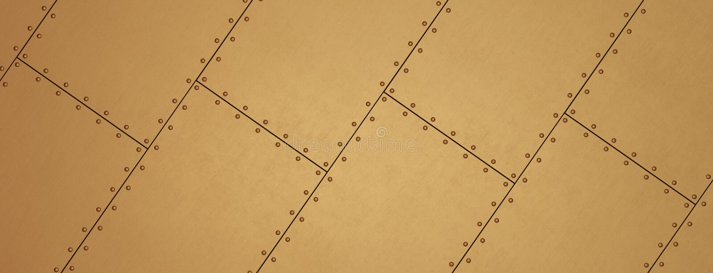 Groszaki nitujący prześcieradła jako tło Metalu sztandar ilustracja wektor
