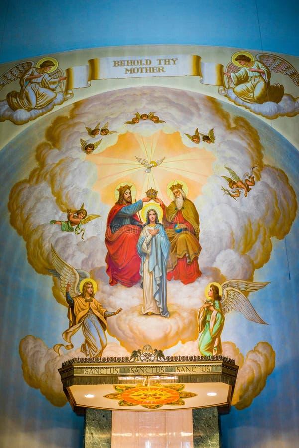 Grota kościół ołtarz obraz royalty free