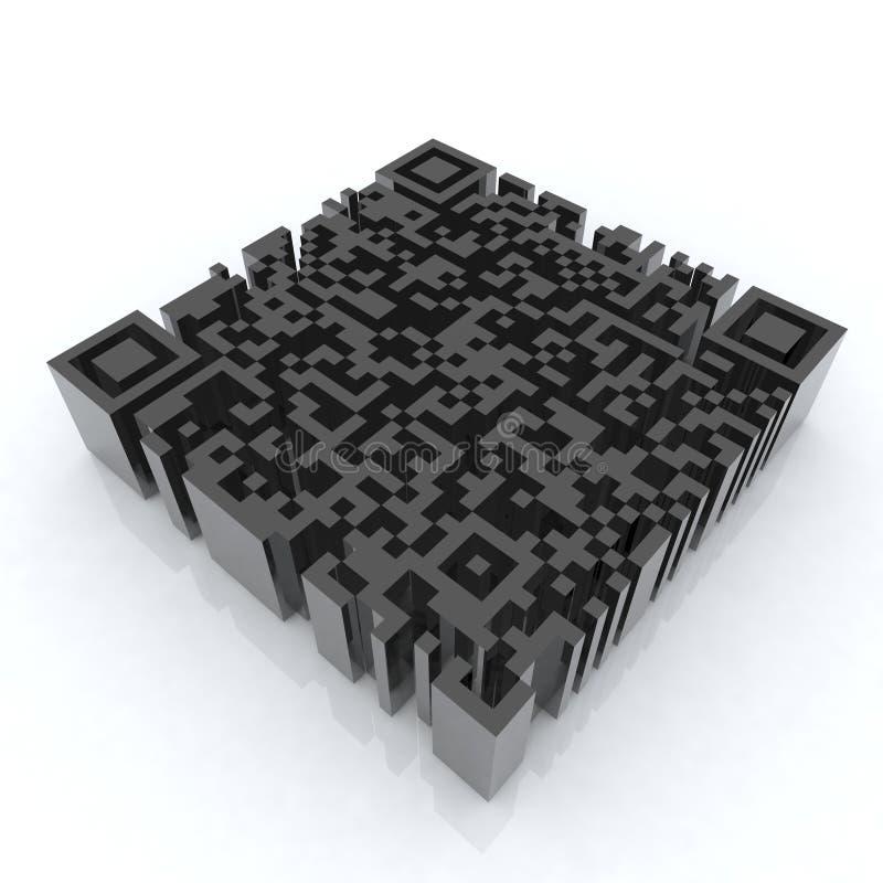 Grote 3d streepjescode qr