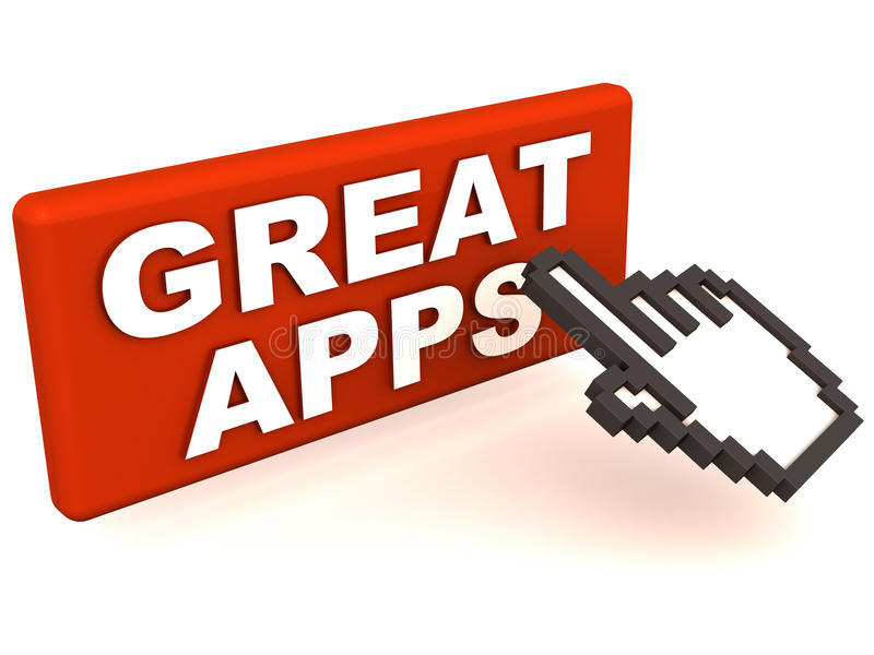 Grote apps vector illustratie