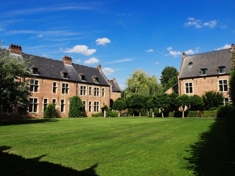 Grote Béguinage in Leuven royalty-vrije stock foto