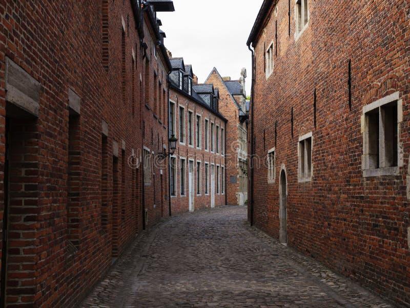 Grote Béguinage in Leuven stock foto's