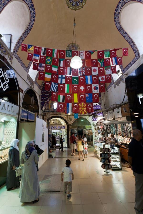 Grote Bazaar Istanboel. stock afbeeldingen