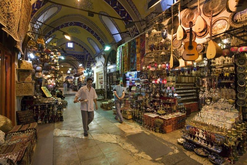 Grote Bazaar - Istanboel - Turkije stock afbeeldingen