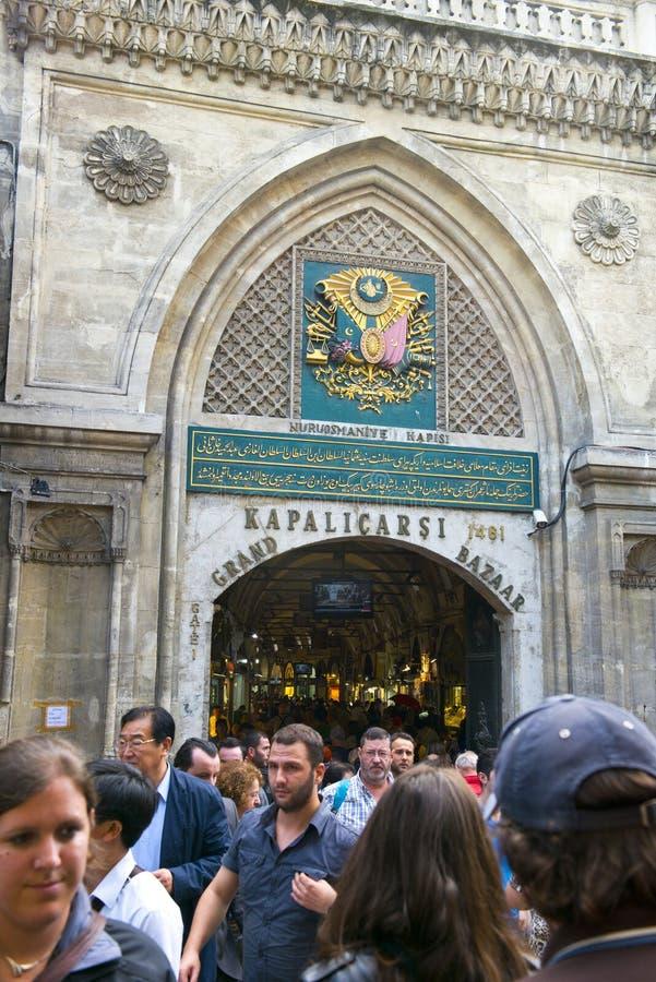 Grote Bazaar, Istanboel, Turkije, de Bestemming van de Reis stock foto