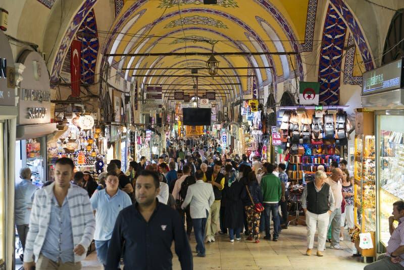 Grote Bazaar, Istanboel, Turkije, de Bestemming van de Reis stock afbeelding