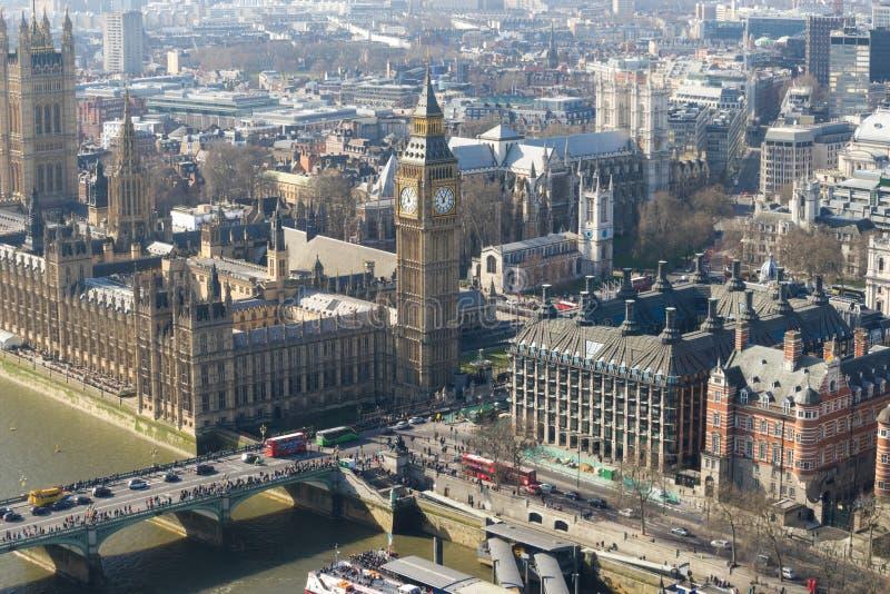 Grote BenBig Ben en de abdij van Westminster in Londen, Engeland royalty-vrije stock foto