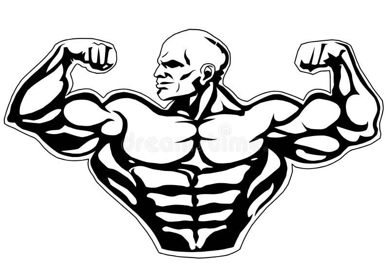 Grote bicepsen royalty-vrije illustratie