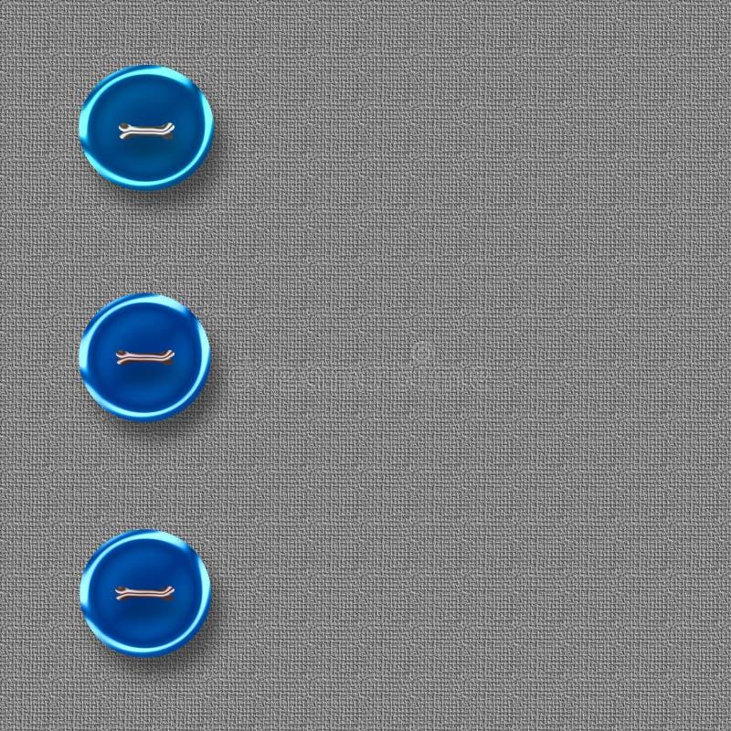 Grote blauwe knopen vector illustratie
