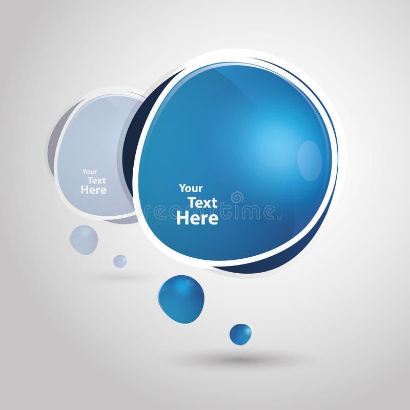 Grote blauwe toespraakbel vector illustratie