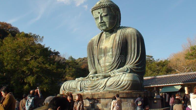Grote Boedha Kamakura stock foto's