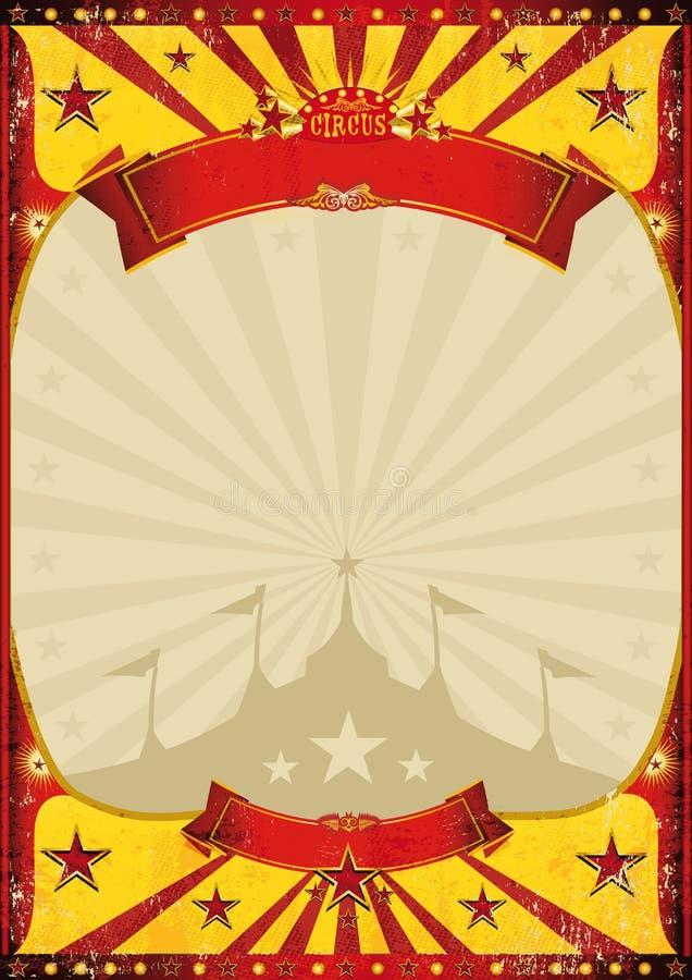 Grote bovenkant van de circus de uitstekende affiche stock illustratie