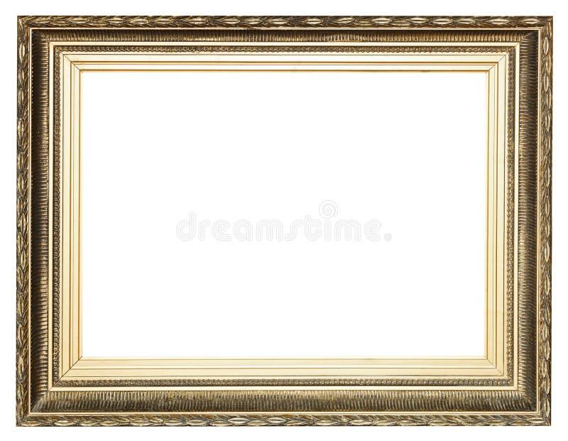 Grote brede gouden oude houten omlijsting royalty-vrije stock foto