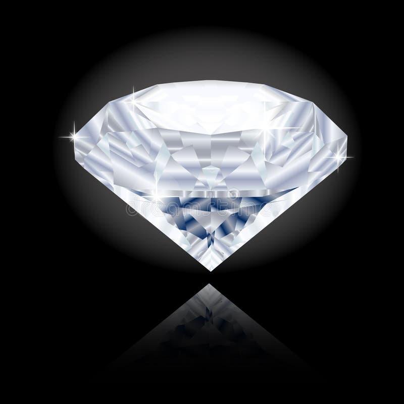Grote, briljante diamant royalty-vrije illustratie