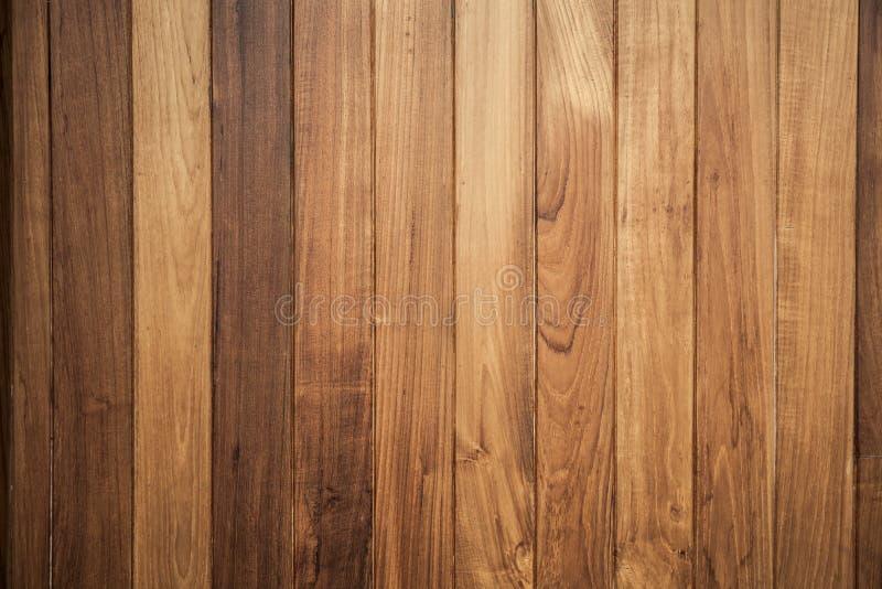 Grote Bruine houten de textuurachtergrond van de plankmuur stock foto