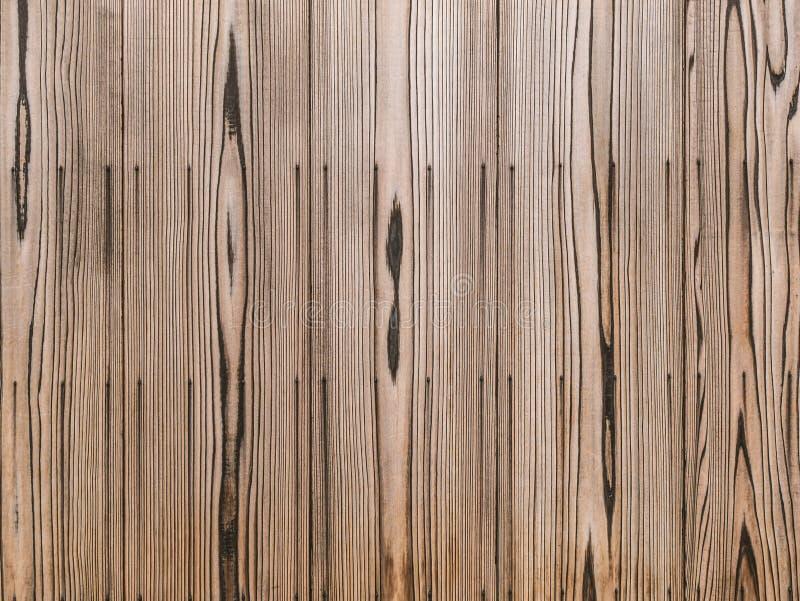 Grote Bruine houten de textuurachtergrond van de plankmuur royalty-vrije stock afbeelding
