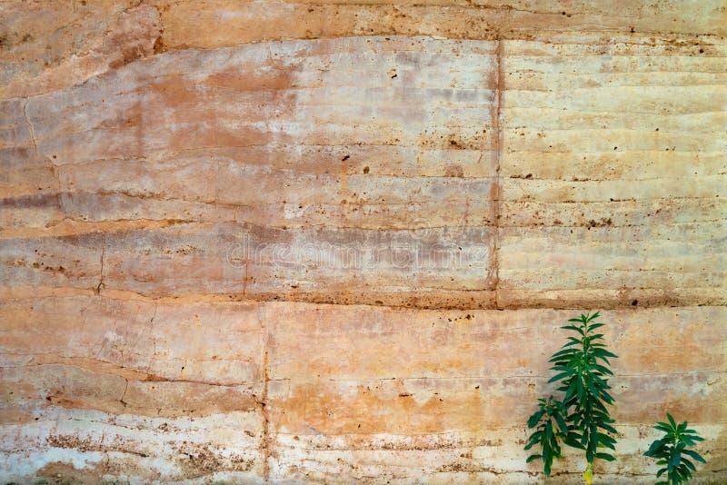 Grote bruine steenmuur royalty-vrije stock afbeeldingen