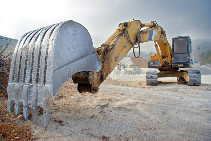 Grote bulldozer stock afbeeldingen