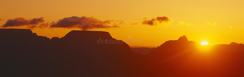 Grote Canion bij Zonsopgang stock fotografie