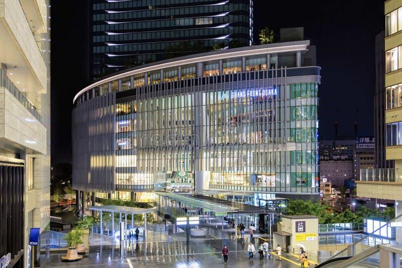 Grote commerciële complex van Front Osaka stock foto's